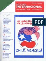 Nuestra Epoca N° 12 - diciembre 1980 - Revista Internacional - edición chilena
