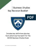 IGCSE Business Studies Key Revision Booklet(1)