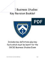 IGCSE Business Studies Key Revision Booklet(1)