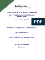 18-001-Aspetti Legislativi e Contrattuali Dirigenza Professioni
