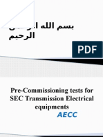 01-Pre-Commissioning Tests for SEC Transmission Electrical Equipments