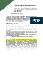 20132MBA063S1 4. Market SegmentationTarget Market Selection an ESP