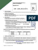 cepre uni - Prueba Seleccion Basico 2011-1