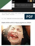 Alegato Artístico Contra La Violencia de Género
