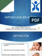 Hipoacusia en Ninos