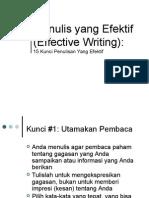 2. Kunci Menulis Efektif