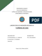 Informe de práctica de Turbina de Gas