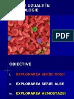 Analize Uzuale in Hematologie