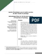 Apuntes metodológicos para el análisis narrativo de datos visuales en psicología