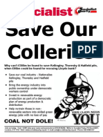 Save Our Colleries leaflet