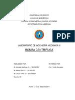Informe Bomba Centrifuga