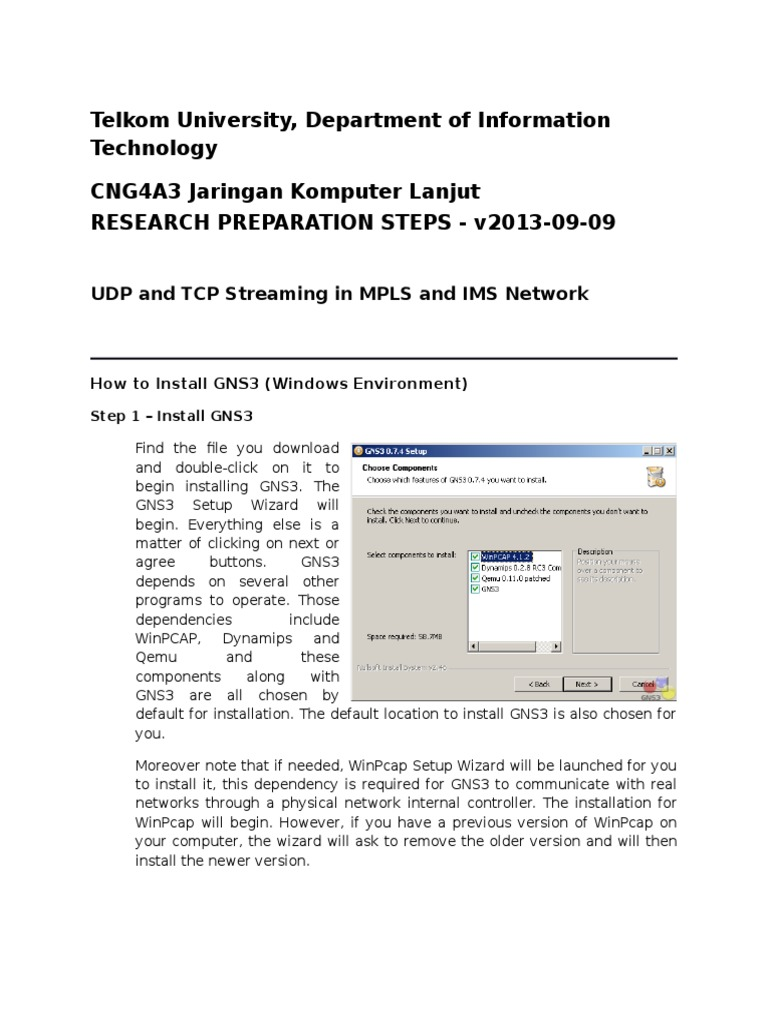 UDP and TCP Streaming in MPLS and IMS Network   Ip Multimedia