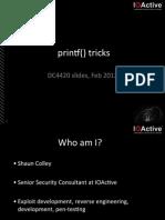 Printf() Tricks