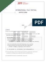 Climas Jiff 2015 Entry Form