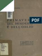 Cosimo Giorgieri Contri - primavere del desiderio e dell'oblio