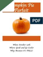 pumpkin pie parfait flyer