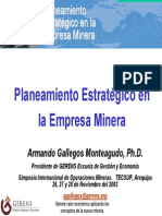 planeamiento estrategico minero