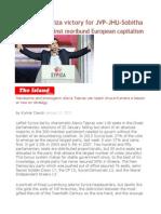 Lessons of Syriza Victory for JVP-JHU-Sobitha Mass Anger Against Moribund European Capitalism
