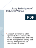 Expository Techniques of Technical Writing