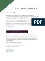 Como Cambiar La Direccion IP en La RASPBERRY PI