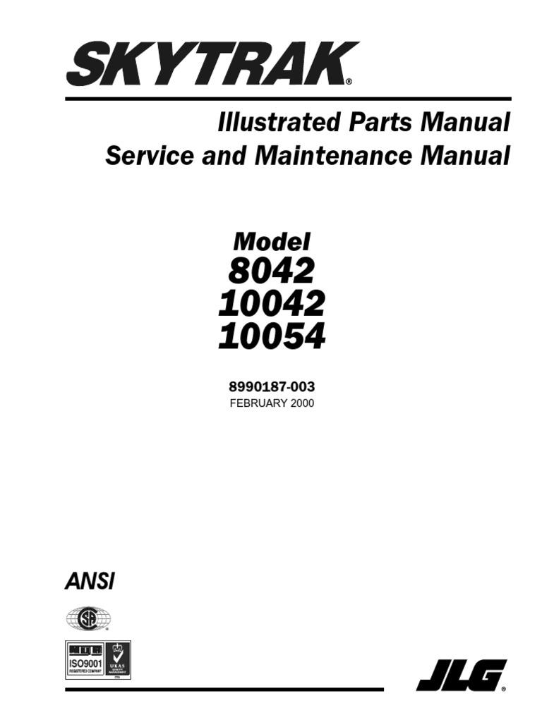 parts service maintenance skytrack 8042 10042 10054