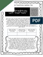New Testament LDS Gospel Doctrine Lesson #6