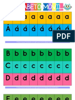 Alfabeto Móvil Simple Color