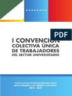 1ra Convencion Colectiva Unica de Trabajadores Del Sector Universitario