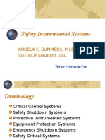 Safety Instrumented Systems Angela Summers