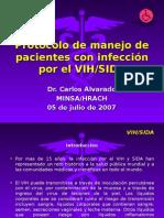 Protocolo de manejo de pacientes con infección por VIH
