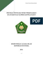 Pedoman Penulisan Buku Perkuliahan Perguruan Tinggi Agama Islam