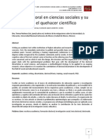 La tesis doctoral en ciencias sociales y su relación con el quehacer científico