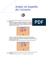 Estrategia en Jugada de Córners Futsal