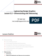 SIE1010 Lesson 5.2 - Dimensioning and Tolerancing (Part 2)
