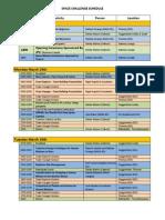 CSC2013 Agenda