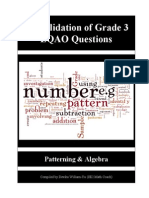 Consolidation of Grade Threee EQAO Questions (Patterning) 2006-2011