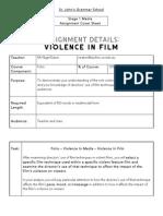 folio - violence in film task 1