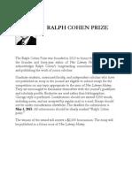 Ralph Cohen Prize