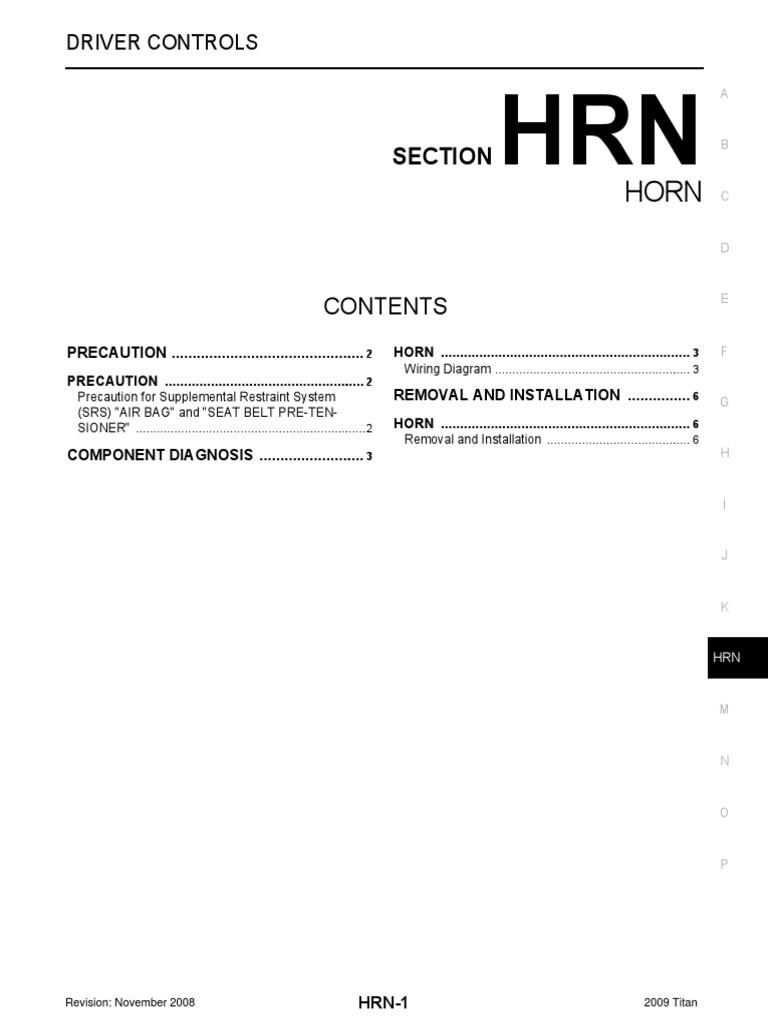 Hrn Airbag Seat Belt Titan Wiring Diagram