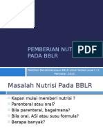 Pemberian Nutrisi Pada BBLR