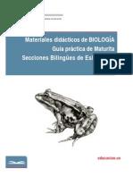 Materiales didácticos de BIOLOGÍA Guía práctica de Maturita Secciones Bilingües de Eslovaquia
