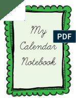 Cursive Calendar Notebook Binder