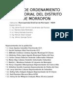 Plan de Ordenamiento Territorial Del Distrito de Morropon