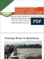 Determining community participation in flood prevention programs through contingent valuation method