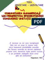 COMUNICAREA   MANAGERIALĂ