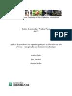 Analyse de l'Incidence Des Dépenses Publiques en Éducation en Côte d'Ivoire - Une Approche Par Do