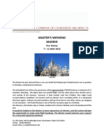 Master Weekend Madrid 2015 Calling Notice