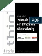 Sondage les Français et de crowdfunding