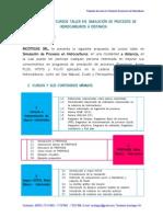 Propuesta Tecnica de Cursos en Simulacion de Procesos