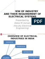 electrical system design required for industry overview
